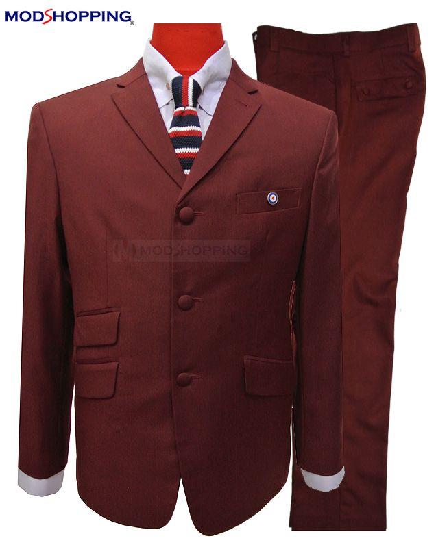 Modshopping - BURGUNDY WINE MOD SKINHEAD SUIT, £219.00 (http://www.modshopping.com/burgundy-wine-mod-skinhead-suit/)