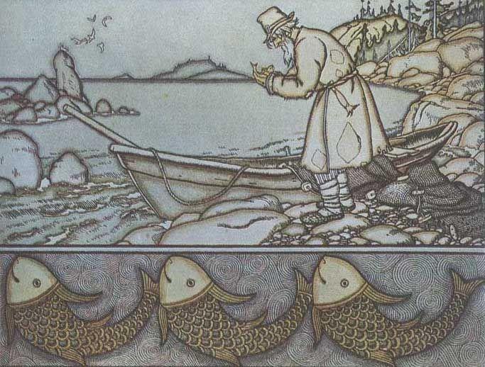 Сказки Пушкина. Иллюстрации. Билибин
