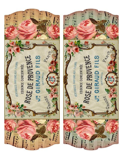 Lilac & Lavender: French Perfume Label ~ project & printable