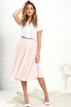17 Best ideas about Pink Midi Skirt on Pinterest | Pink pleated ...