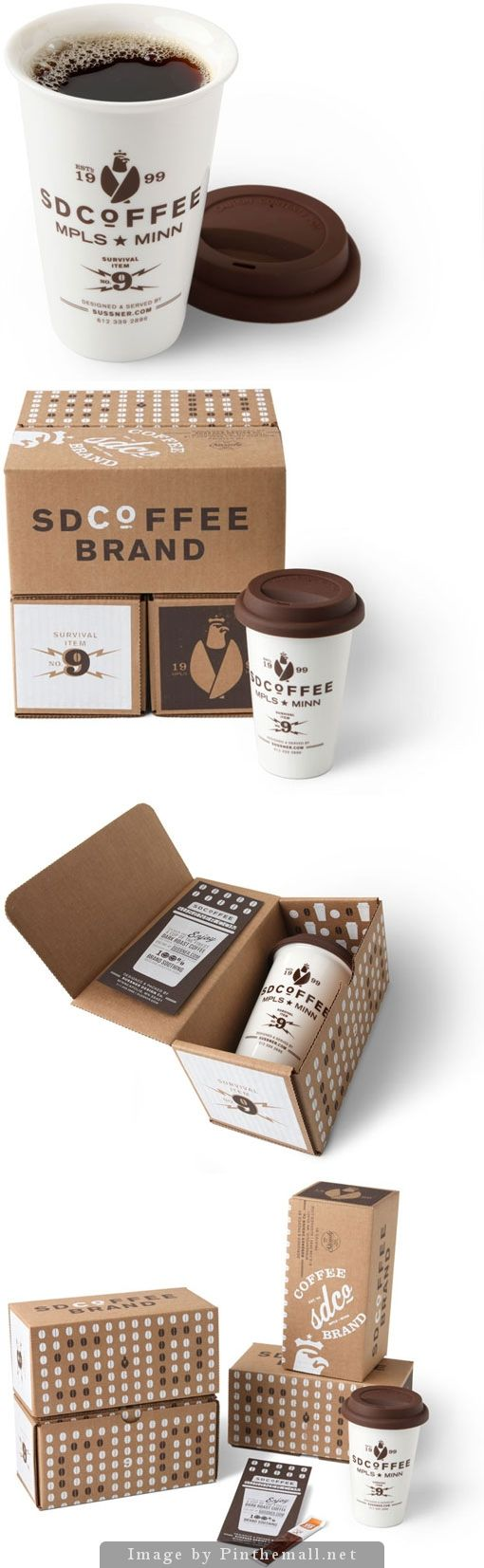 S&D coffee self promotional branding and packaging by Sussner Design curated by Packaging Diva PD created via http://www.designworklife.com/2011/03/25/sussner-desig09n-sdcoffee/