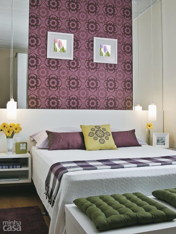 Bom jogo de espelhos | 13 quartos de casal com papel de parede - Casa