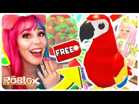 How To Get A Free Legendary Parrot Pet In Adopt Me Roblox Adopt Me New Jungle Pets Update Youtube In 2020 Parrot Pet Roblox Adoption
