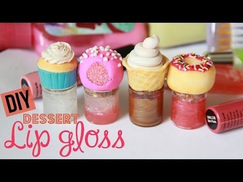 DIY dessert lip gloss: tutorial for the bottles and the lip gloss