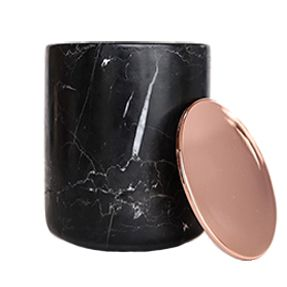 Marble Range - Black with Rose Gold/Copper Lid