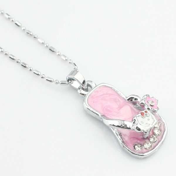 Creative rose strass collier