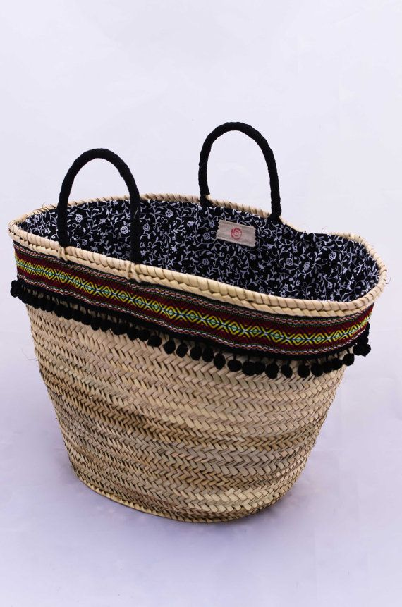 Boho Handmade Woven Palm Leaf Bag/Summer Straw por Spiralspiral https://www.facebook.com/pages/Spiral/1436327999944474