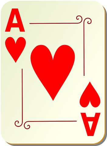Ace, Hearts, Playing Cards, Poker