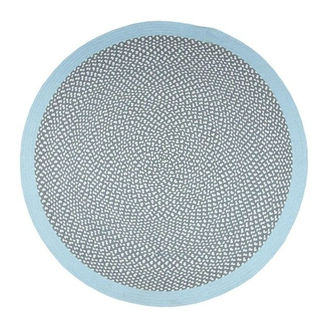 """Composition précise : 100% Coton - Disponible sur mesure : Non - Entretien : Aspirer le tapis dans le sens du velours (sans brosse) à faible puissance et en évitant les """"allers-retours"""" (cela risquerait de détruire les n?uds ou les fibres) - Formes disponibles : Rond - Hauteur du velours : - Origine : Belgique - Poids : - Type de fabrication : Fait main"""