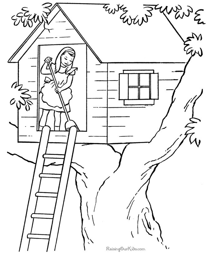 house to color these free printable house coloring pages and sheets of farm pictures are fun for kids - House Coloring Pages
