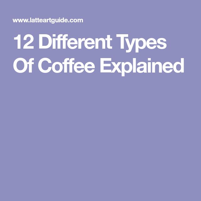 12 Different Types Of Coffee Explained #coffeetype