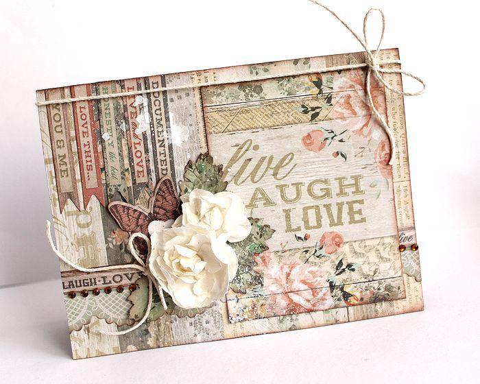 """Live Laugh Love"" Card by Kaori Fujimoto"