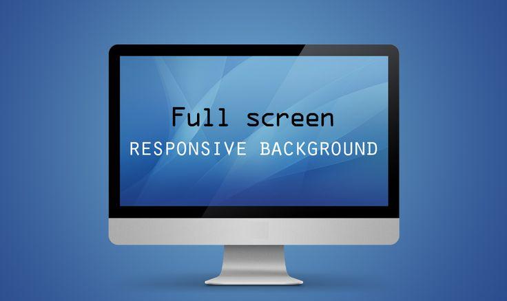 Full screen responsive background