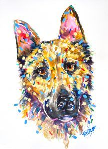 German Shepherd Tracey Keller Pet Portrait