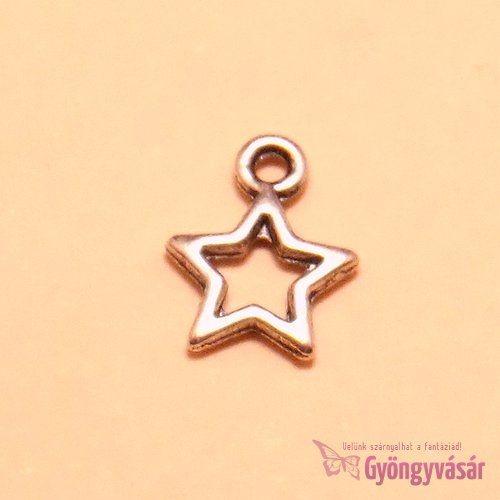 Ezüstszínű csillag - fém zsuzsu / fityegő