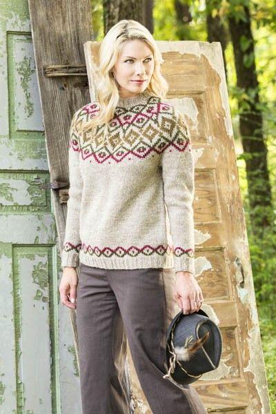 Free Universal Yarn Pattern : Woodlands Yoke Pullover