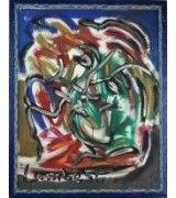 """Aceito propostas de compra : Pintura a óleo sobre tela, com motivo modernista """"abstracto"""", assinado, com 100x80 cm. Moldura com 109x88 cm, Artista de cotação Internacional"""