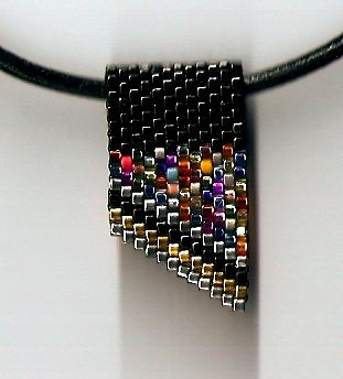 Mini Black Confetti Slide Necklace