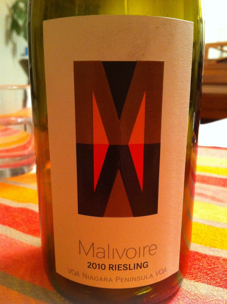 I'm not usually a fan of Rieslings because of their sweetness. But this one's really well balanced with a luscious mouth-feel. Notes of citrus, honey and apricot. Malivoire has really outdone themselves.