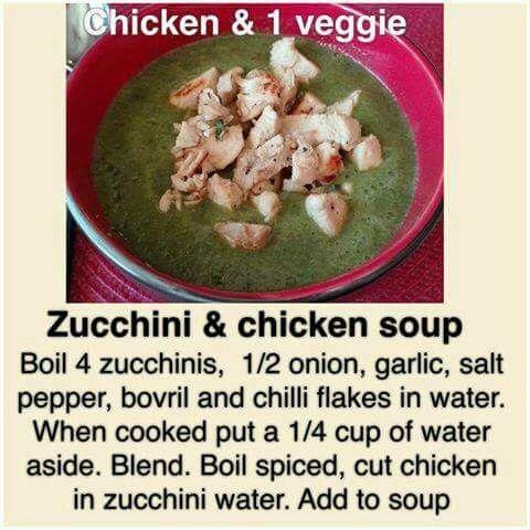 Zucchini & chicken soup