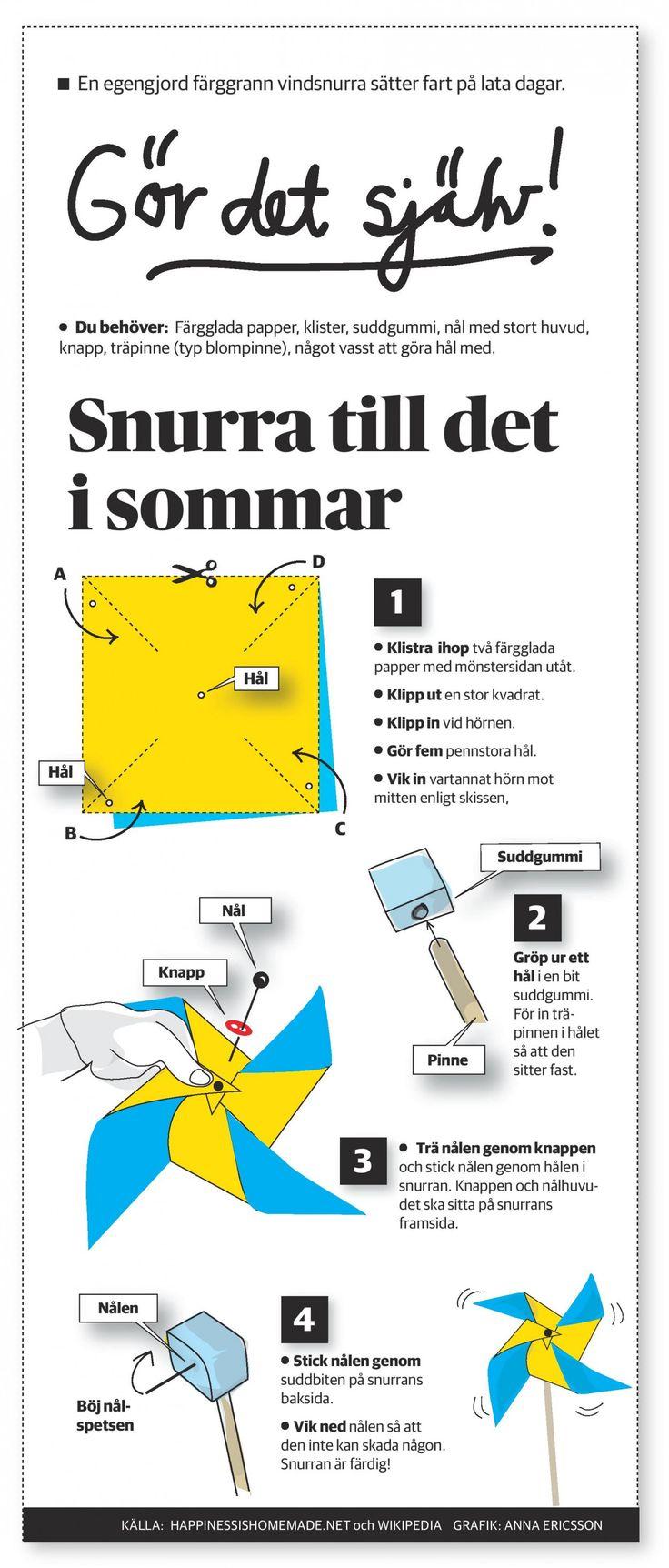 Gör det själv. VindSnurra // Translalte from Swedish//