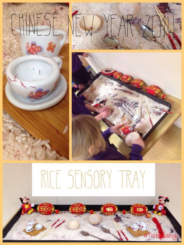 Rice sensory tray as part of Chinese New Year 2014