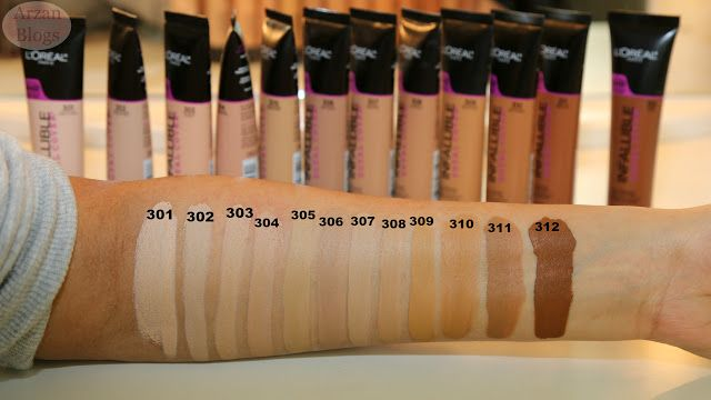 L'Oréal Infallible Total Cover Foundation 309 Caramel Beige Demo, Swatches, Wear Test, Review and Comparison with L'Oreal Pro Matte Foundation 107 Fresh Beige https://youtu.be/rEjBbc1jlKk   Shade Reference: MAC NC40-NC42