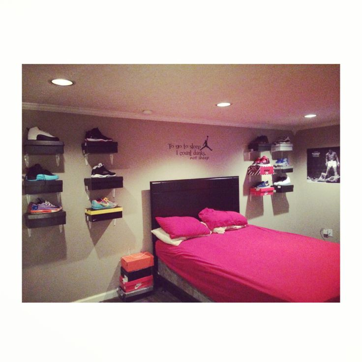 Teen boys room make over for the sneaker head. | My home makeover ...