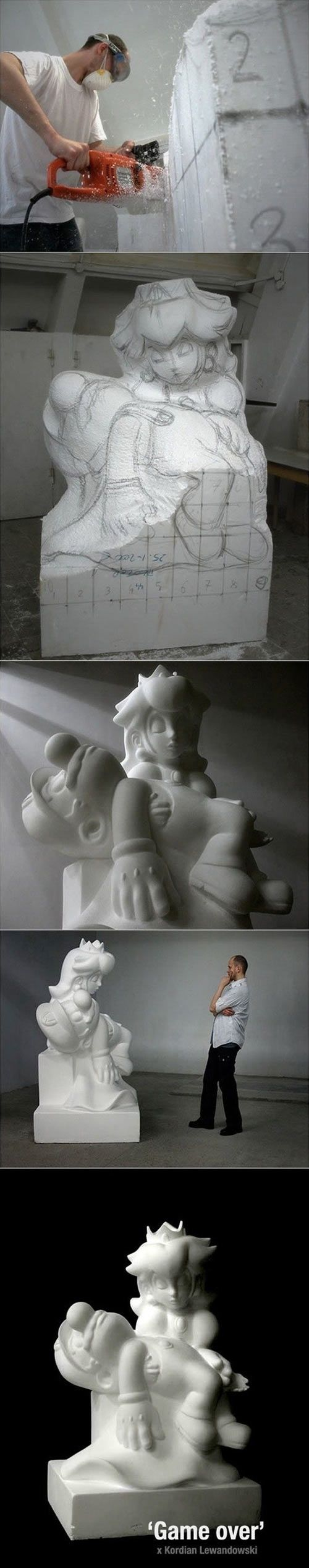 Game over, Mario… a tribute to the Pieta by Michaelangelo