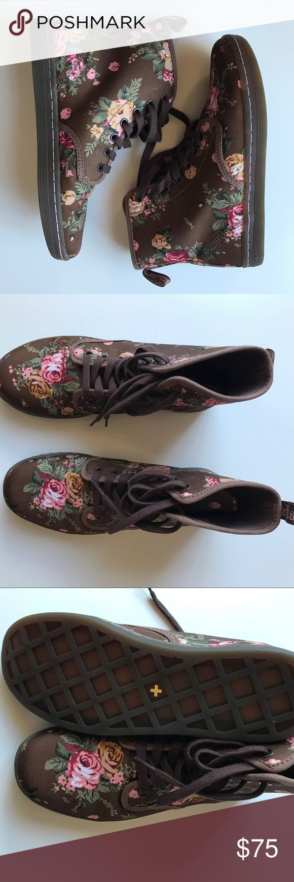 Doc Marten Floral Boot Brown Doc Marten Floral Boot Brown Dr. Martens Shoes Lace Up Boots