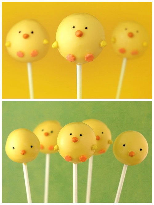 yellow bird cake pops - a sweet treat at Easter.