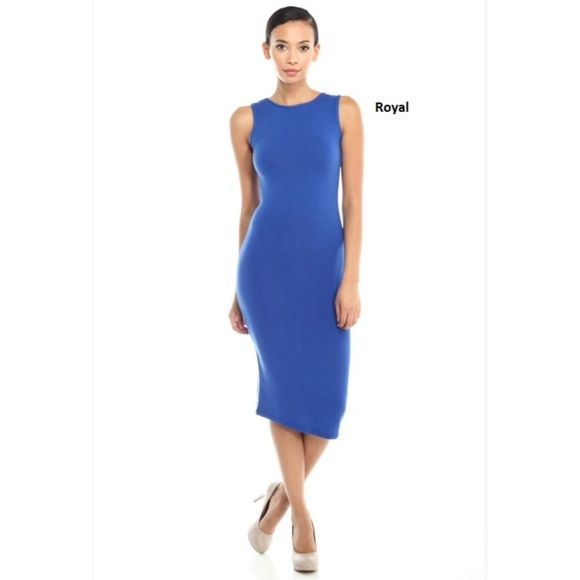 30% BundlesBodycon Style Midi Dress ❗️Lowest Price Unless Bundled❗  *NWT Retail *Round neck *Sleeveless *Slim fit throughout *Midi length *Polyester/spandex *Available black OR royal blue size S, M, L   *NO TRADE/HOLD  *YES BUNDLES Create your own no hassle bundle20% Off❗️  *PLEASE ASK QUESTIONS & READ DESCRIPTIONS❗️Measurements and sizing recommendations are for guidance purposes only. I cannot speak for every body type. Please understand that buying online does have some risk❗️ Boutique…