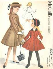 Vintage girl's coat Love this pattern, used for Lily's zebra coat