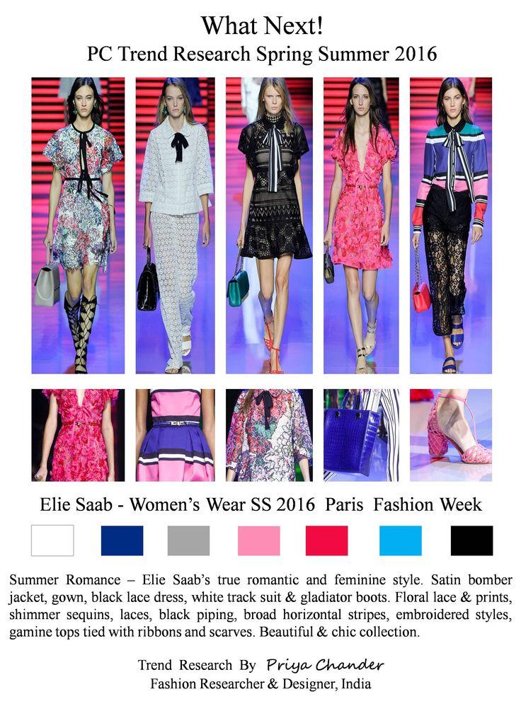 #ElieSaab #PFW #SS16 #pctrendresearch #satinbomberjacket #blacklacedress #tracksuit #white #black #pink #gladiatorboots #floralprint #womenswear #fashiontrends2016 #broadstripes #blackpiping #lacedress #paillettesequins #sequins #shimmering #bomberjacket #fashionindustry #fashionbusiness #Paris