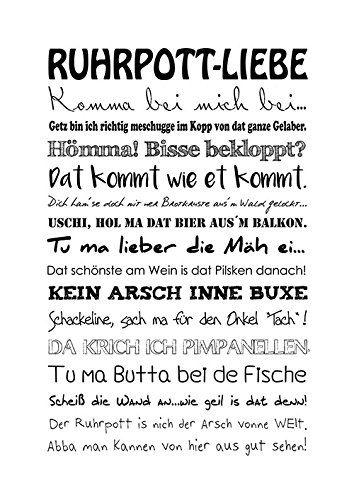 Spruch Sprüche Ruhrpott Ruhrgebiet Poster Wandbil…
