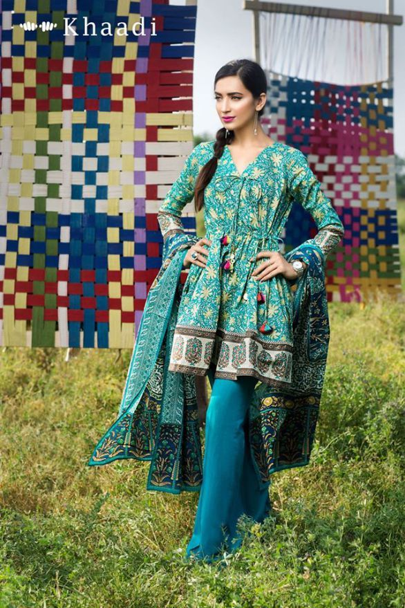Khaadi Cambric 3 Piece Unstitched Suits for Eid 2016-17