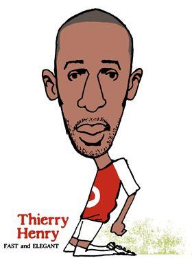 Thierry Henry(フランス)ARSENAL(アーセナル)ティエリ・アンリ似顔絵