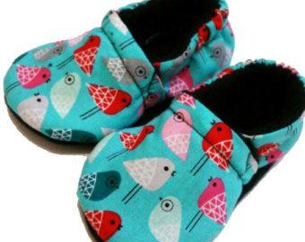 Zapatillas zapatos botines cuna zapatos Halloween de pajaritos dulce niña elija 0-24 M 3T - 5T regalos de bebé