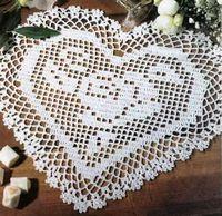 crochet em revista: Coração rendilhado