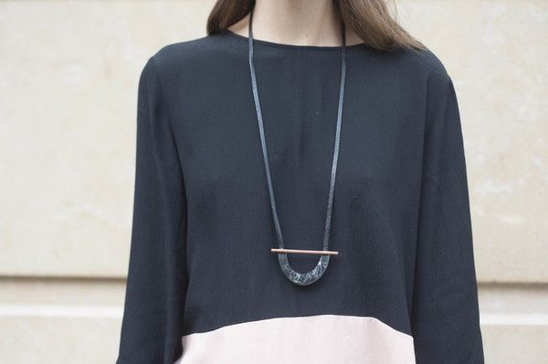 Rill Rill Necklace No 7 Black Marble | nana & bird - Only Curating What We Love