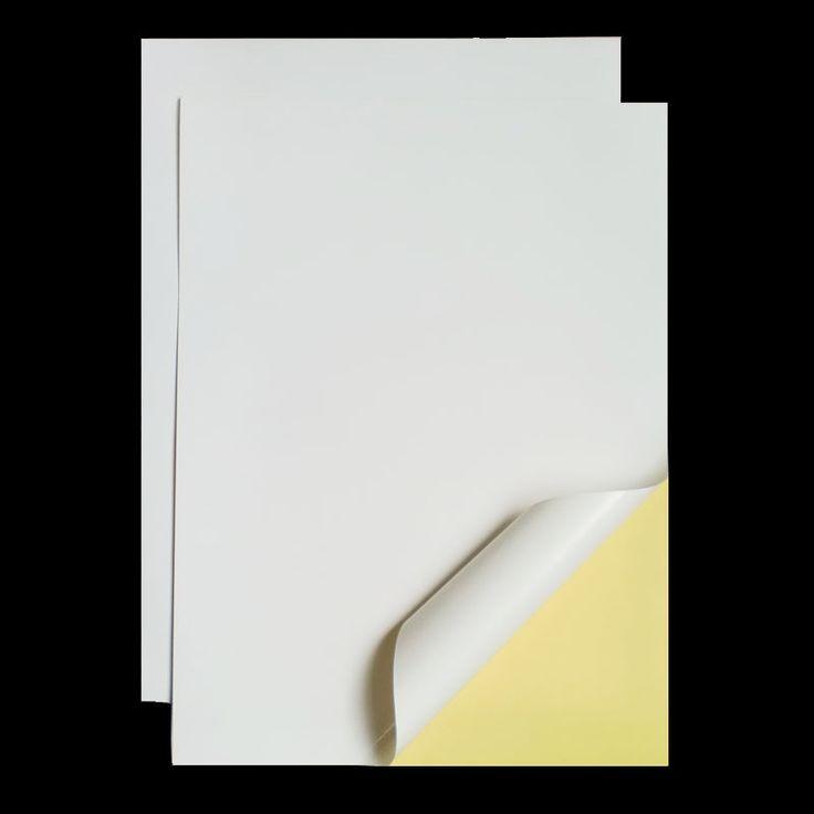 """A4 210 מ""""מ X 297 מ""""מ מט לבן דבק עצמי קל פילינג מדבקת נייר להזרקת דיו למדפסת"""