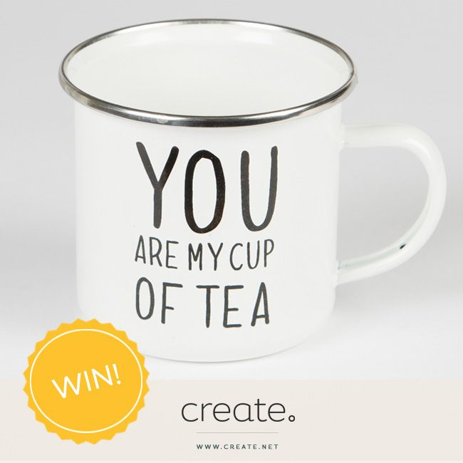 """This week's #FreebieFriday is for this super cute """"You Are My Cup Of Tea"""" mug from the amazing Penny Rose Home & Gifts, as featured in our #CreatePicks gift ideas blog post: http://bit.ly/1PkUn6B. Enter over on the Create Facebook page!"""