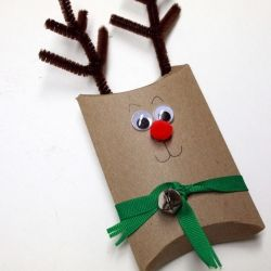 Give Gift Cards in style this year with a cute reindeer pillow box holder