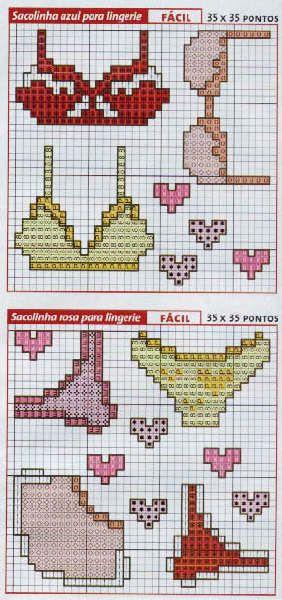 Schema punto croce Costumi Bagno