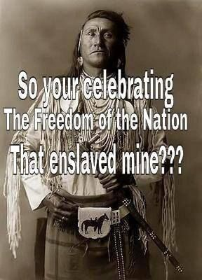 So your celebrating the freedom of the nation that enslaved mine? | Anonymous ART of Revolution