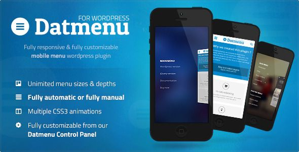 Datmenu Responsive Menu WordPress Premium Plugin