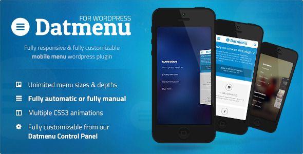 Datmenu Responsive Menu WordPress Premium Plugin