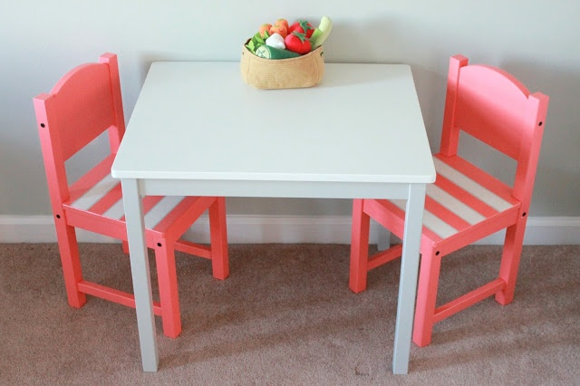 [Crafty Lady] Childrens Table Ikea Hack