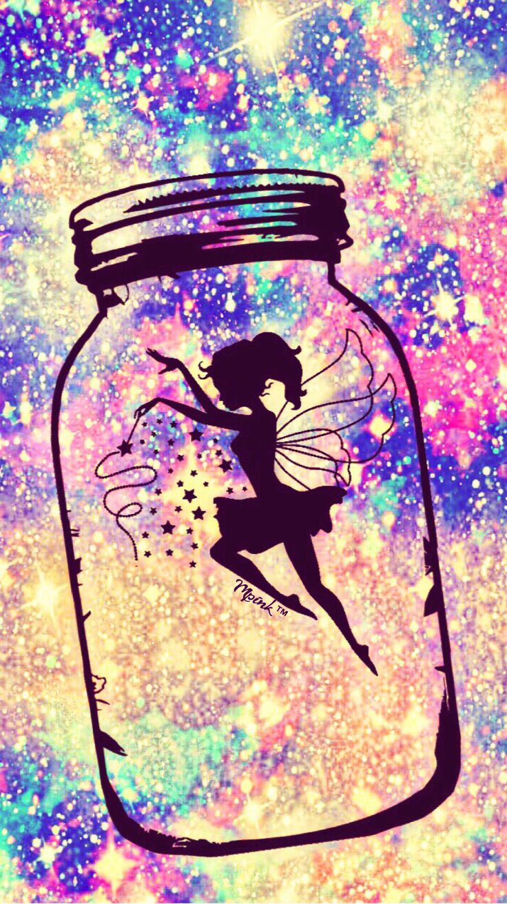 Cocoppa Wallpaper Girl Fairy In A Jar Galaxy Wallpaper Androidwallpaper