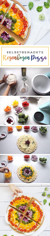 Regenbogen-Pizza: So lecker und so gesund! Das perfekte Party Rezept.